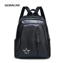 2019 New Fashion Ladies Backpack PU Leather Simple Wild High Quality Woman Bag Retro Waterproof Trend Multifunction