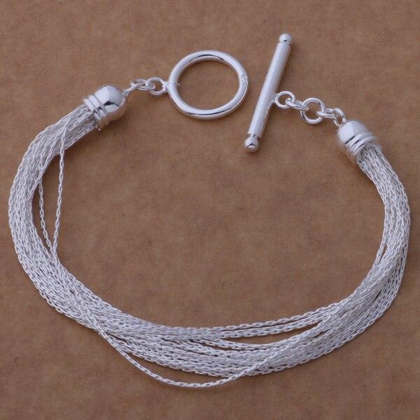 AH257 Hot 925 sterling silver bracelet, 925 sterling silver fashion jewelry multi-thread TO /aqrajhya betajwaa