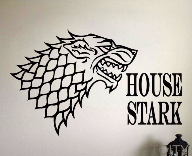 House of Stark Removable Wall Sticker
