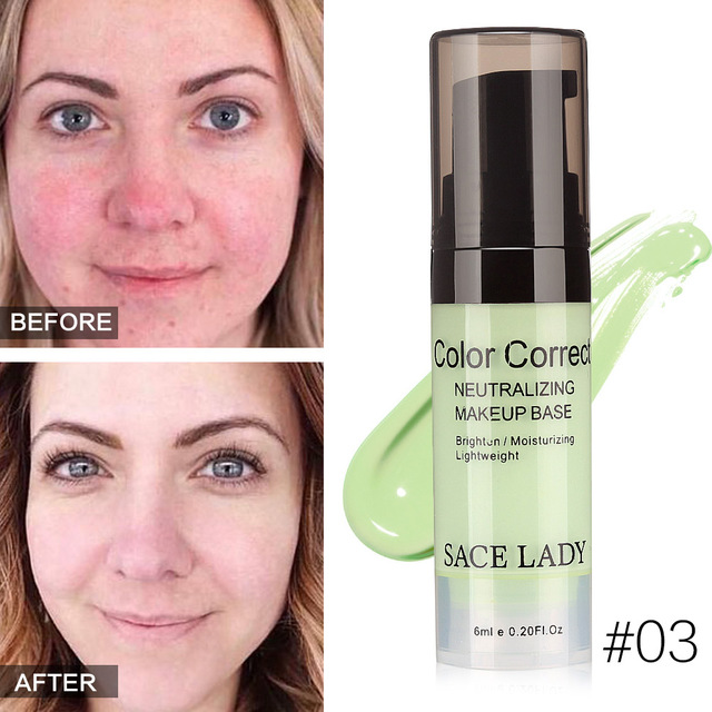 High Quality New Hot SACE LADY Face Color Corrector Cream Base Primer Makeup Natural Facial Liquid Concealer For Beauty