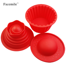 Silicone Giant Cupcake Mold Heat Resistant Bake tools Baking