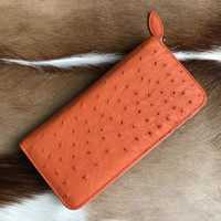 100% genuine ostrich leather skin long women wallets bank card holder, ostrich skin woomen bank card holder coin case wallet