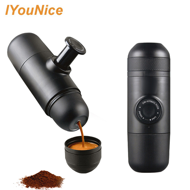 Manual Coffee Maker Hand Espresso Mini Machine Pot Portable For Outdoor Travel Design