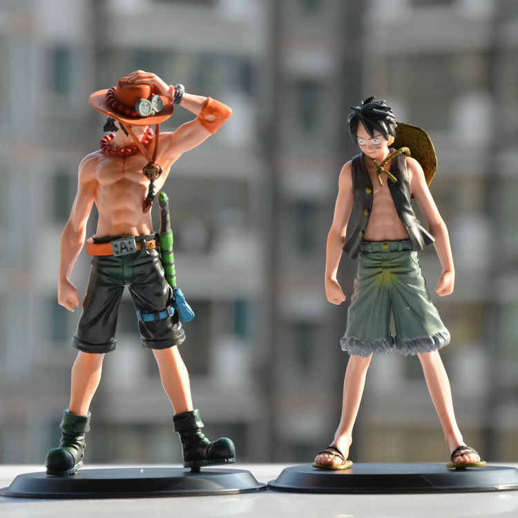 Anime japonês One Piece Portagas D Ace Monkey. D. Luffy Estatueta de Resina do PVC Action Figure Toy Model Collection Presentes boneca Cosplay