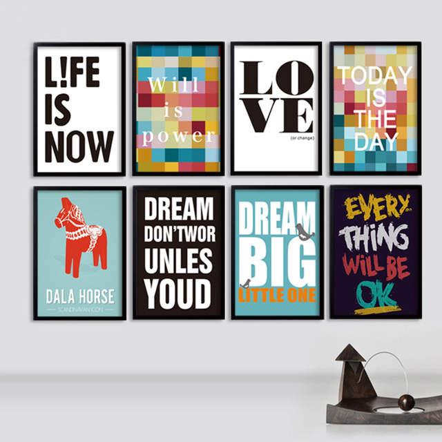 Placeholder Modern Canvas Art Painting Inspiring Pop Posters And Prints Printable Office Clroom