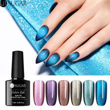 UR SUGAR 7.5ml 5D Magnetic Gel Nail Polish Holographic Glitter Cat Eye UV Varnish Wide Soak Off  Lacquer DIY