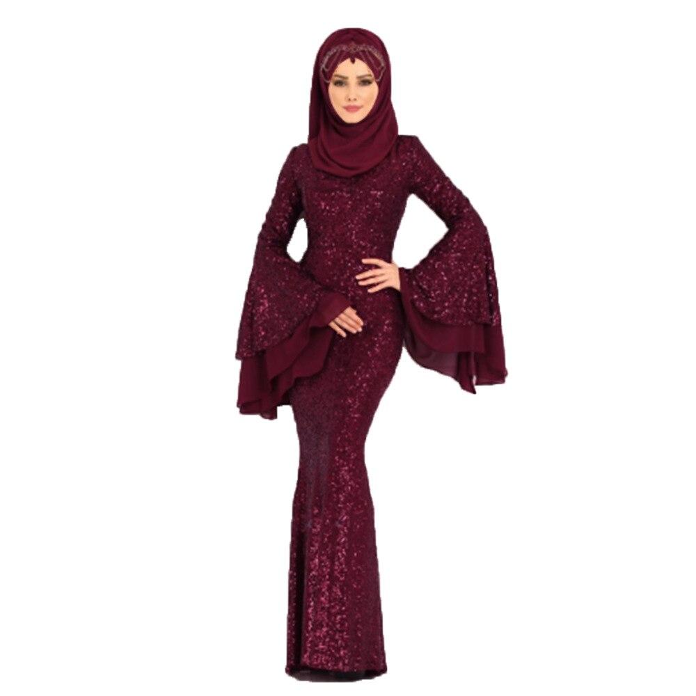Grande taille S-5XL Dubai Caftan robe musulmane fête Abaya femmes arabe paillettes Patchwork turquie Islam prière Caftan Marocain robes