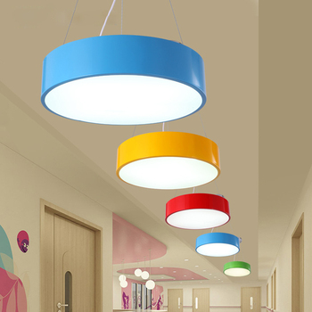 Colorful kids pendant lamp fashion pendant light fixture for kid room kindergarten lamparas de techo colgante suspended luminair
