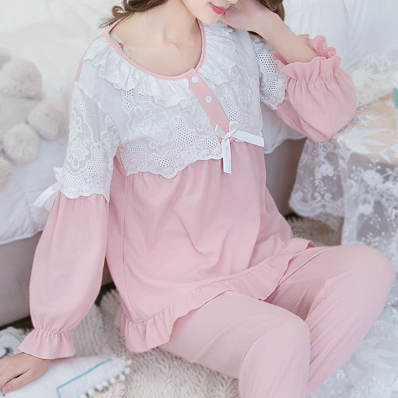 Lactation 2018 Autumn Good High Quality Lovely Maternity Nursing Lace Clothes Pregnant Women Breastfeeding Pajamas Sleepwear breastfeeding nursing cover lactating towel breastfeeding cloth used jacket scarf generous soft good quality maternity clothes