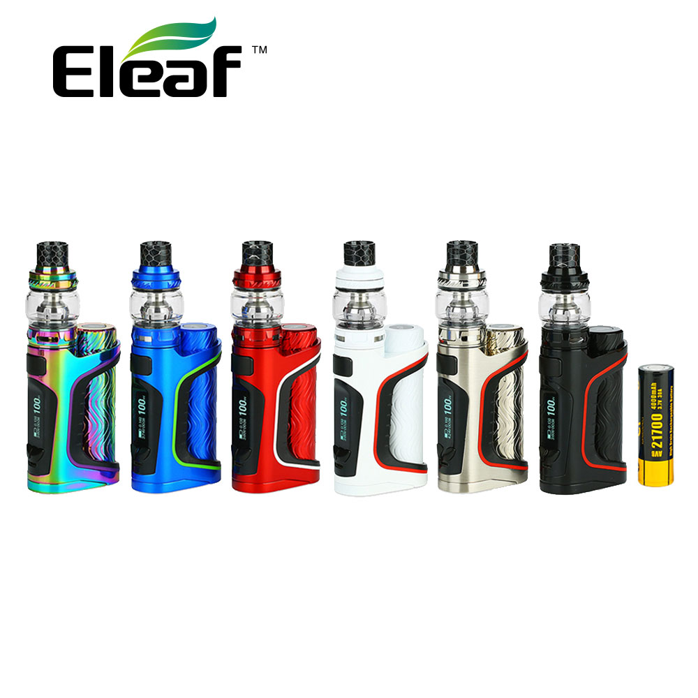 Original Eleaf IStick Pico S Kit with Stick Pico S Mod & 2ml/6.5ml Ello Vate Atomizer & 4000mAh Battery Top Fill E-cigarette Kit skinbox 4people чехол для asus zenfone 4 a450cg white