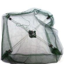 K8356 Nylon Foldable Crab Fish Crawdad Shrimp Fishing  Accessories 80 x 80cm Bait Trap Cast Net Fishing Cage Wholesale