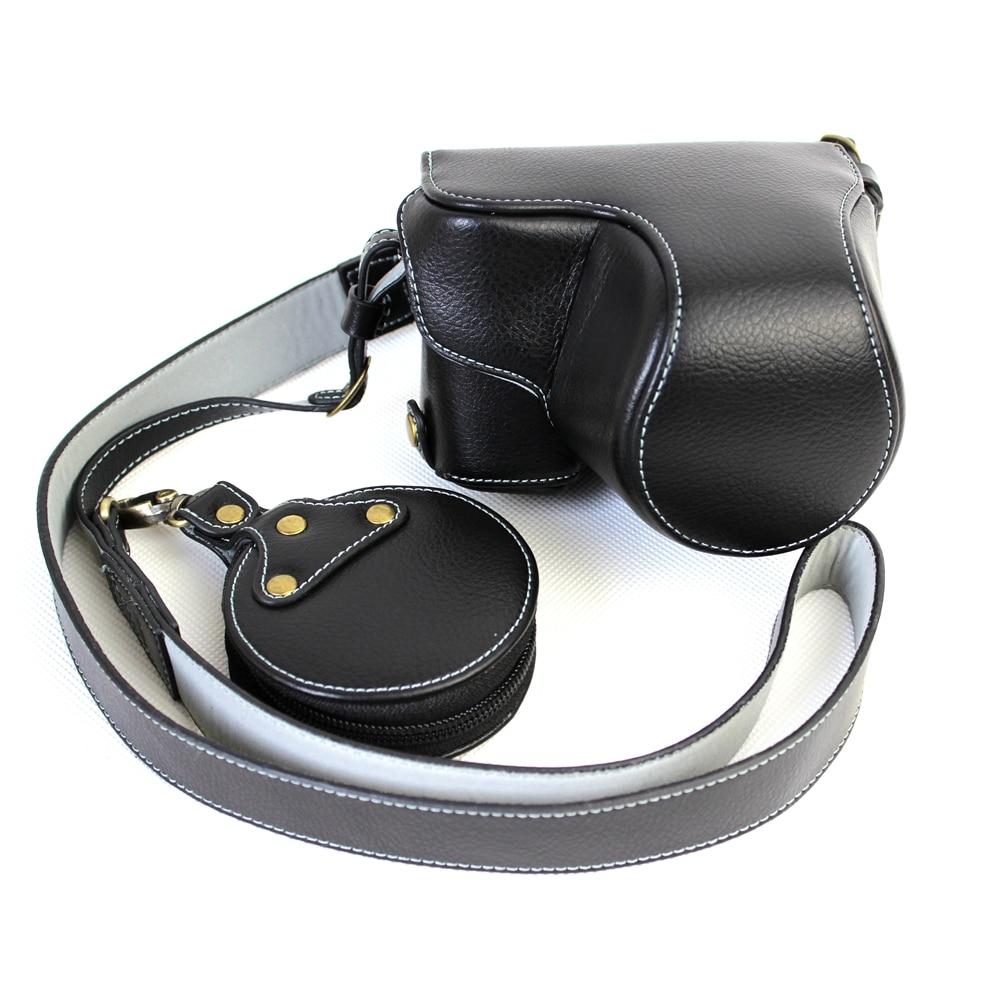 Leather Camera Bag Genuine Leather Camera Strap Shoulder Cover Case For Sony A6300 (16-50mm) Camera Protective Body Bag стоимость