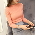sexy fashion women slim basic turtleneck long-sleeve knitted thin solid color sweater female autumn spring pullover top clothing