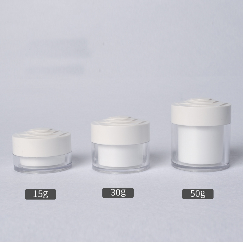 1pcs 15g 30g 50g rose shape cap Cream Mask bottle High grade acrylic cream bottle cosmetic Sub bottle wholesale BQ157 in Tumblers from Home Garden