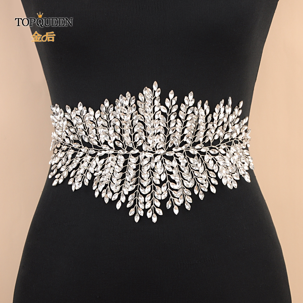 TOPQUEEN SH238 Wedding Bride Belt Rhinestone Belt On Dress Bridal Belts With Rhinestones Wedding Woman Belt For Evening Dress