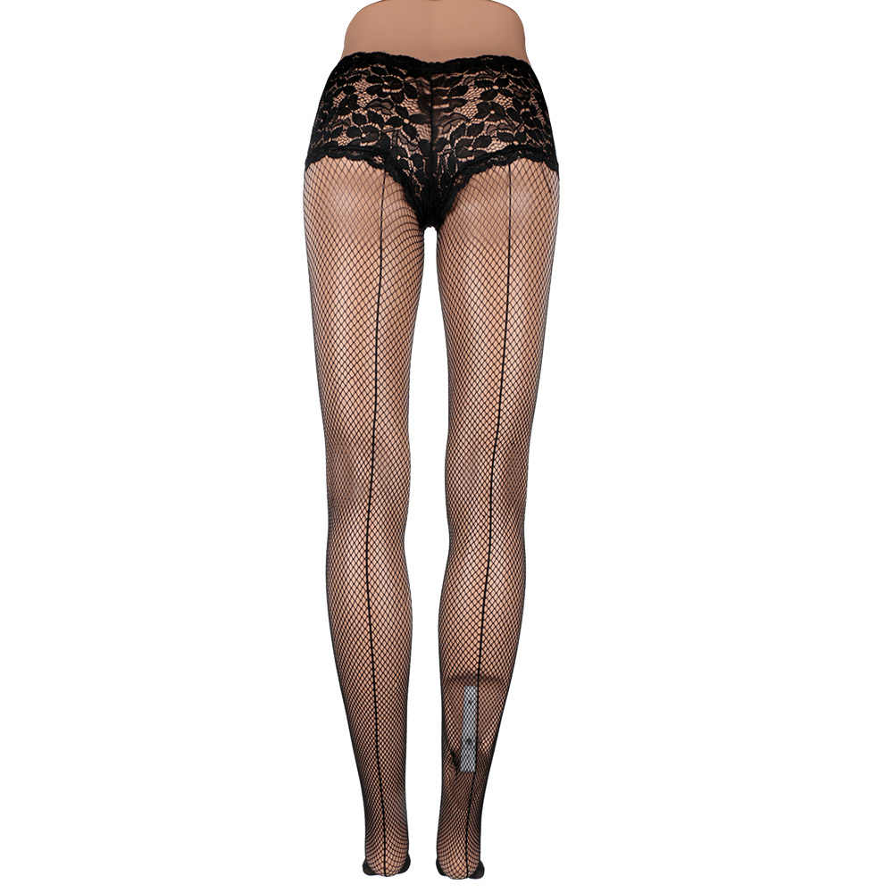 af060c3be55 ... Plus Size Sexy Lingerie Hollow Out Mesh Sexy Pantyhose Open Crotch Sexy  Fishnet Tights Women Sexy ...