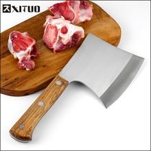 XITUO cuisine chef couteau plein Tang dur hacher boucher abattage couperet couteau en acier au carbone outils à main hachette faucille marteau