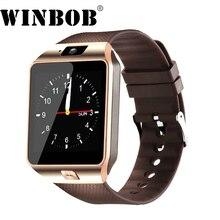 WINBOB DZ09 Smartwatch Relógio Inteligente Telefone Esporte relógio de Pulso Das Mulheres Dos Homens do Relógio de Pulso Para o iphone Android sim suporte cartão tf