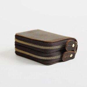 Image 2 - CICICUFF ของแท้หนัง Vintage หนังกระเป๋าสตางค์ 6 กุญแจผู้ถือ Organizer แม่บ้านกระเป๋าผู้ชาย