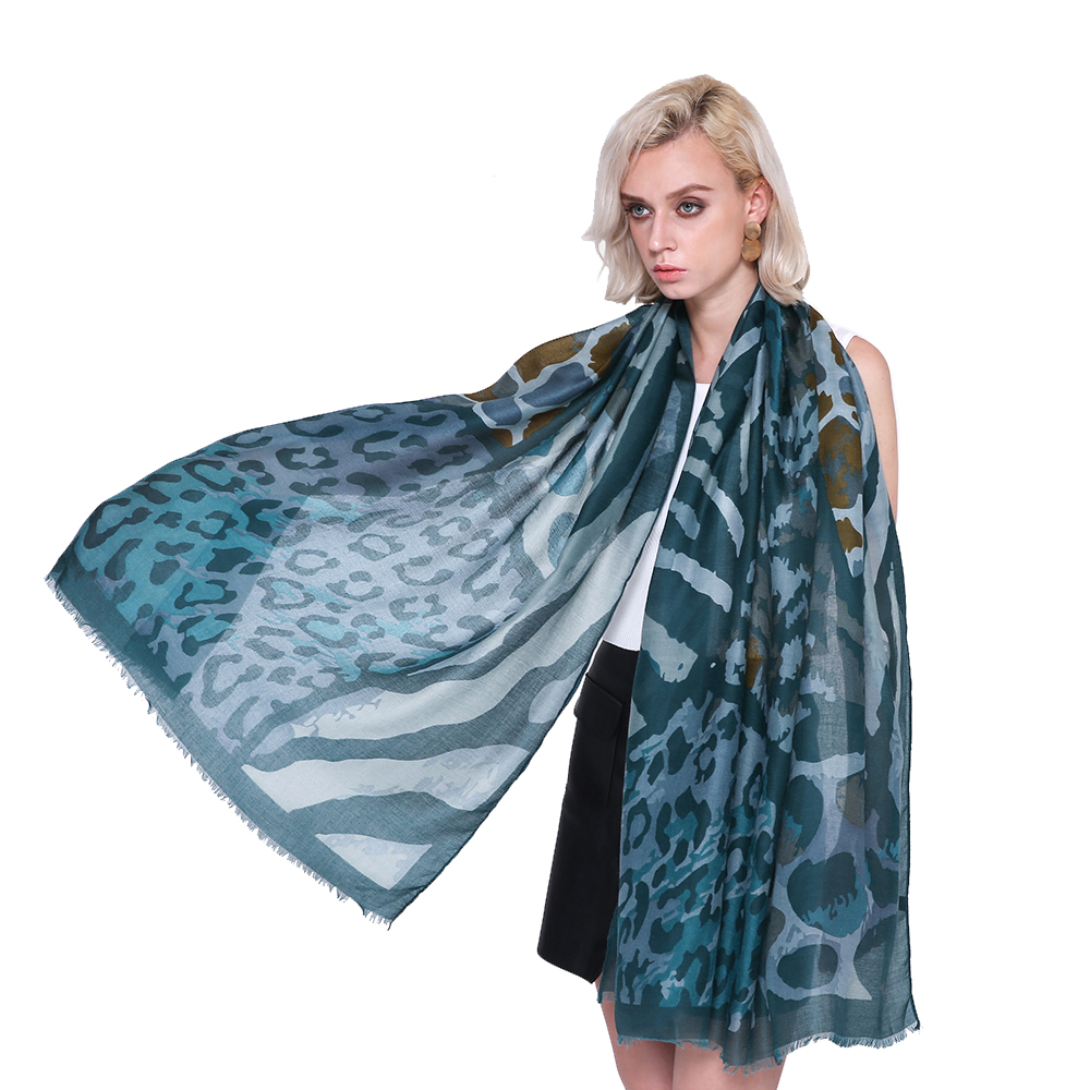 2019 Fashion Cotton Leopard Patchwork Print Scarves Shawl Beautiful Leopard Fringe Wrap Scarf Muffler Hijab Free Shipping