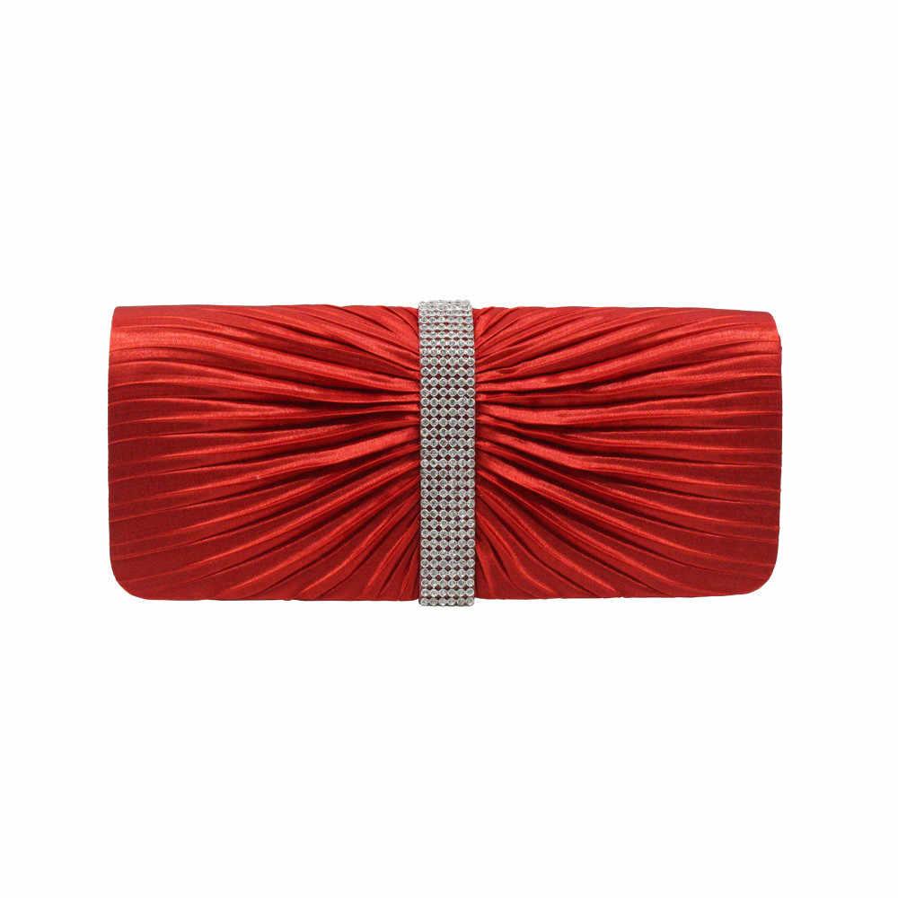 Xiniu Женская атласная вечерняя сумочка-клатч со стразами, женские клатчи на день, кошельки, сумки на цепочке, Свадебная вечеринка, bolsa feminina #4