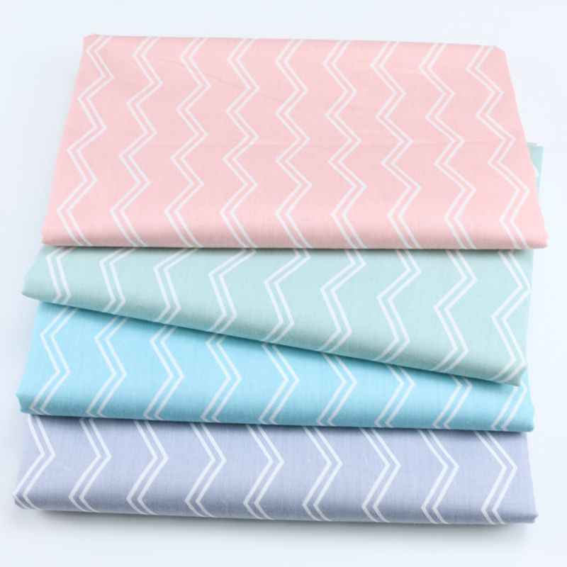 160 см * 50 см хлопок розовый зеленый синий серый двойная линия Белый chevron Ткань для DIY кроватка постельные принадлежности одежды подушка ткань Декор