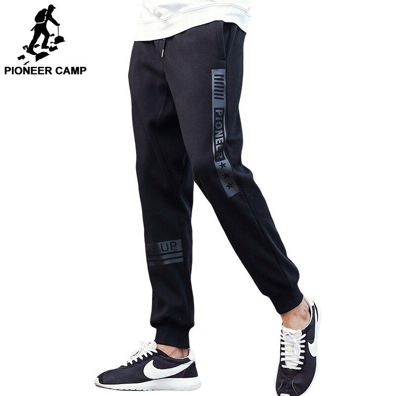 Camp pionnier marque-vêtements casual pantalon hommes top qualité mâle de mode pantalons de survêtement noir imprimer joggers pantalons pour hommes 622136