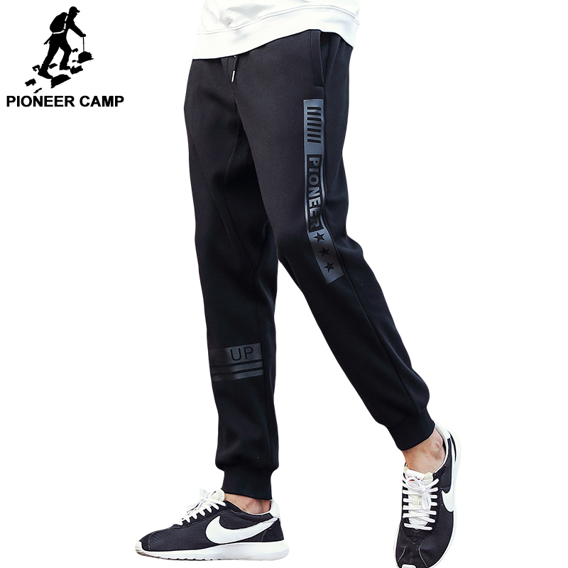 Pioneer Camp Brand Autumn Winter Thick Pants Men Top Quality Male Casual Fashion Fleece Trousers Black