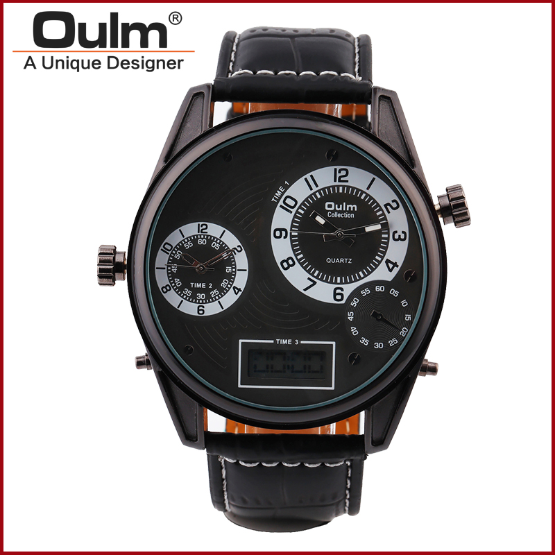 2016 Men Watch Brand font b Oulm b font HP3581 High Quality Quartz Watch Men Watch