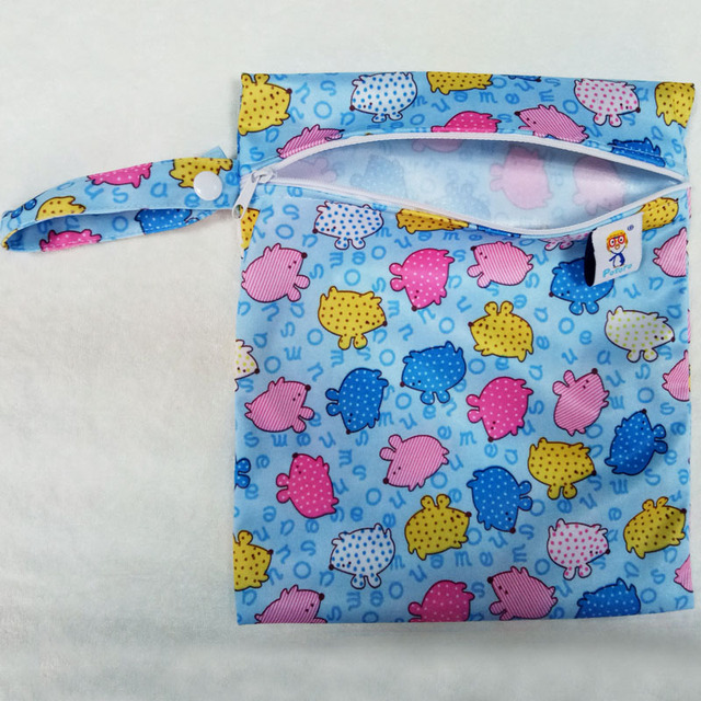 Single Pocket Wet Bag, Baby Cloth Diaper Bag