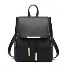 Fashion Women Backpack High Quality PU Leather Backpacks For Teenage Girls School Bags Preppy style Mochila