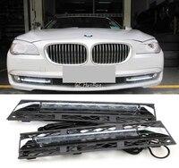 2pcs White Daytime Running Lights DRL LED Fog Lamp for BMW 7 Series F01 F02 730i/740i/750i/760i 2009 2012