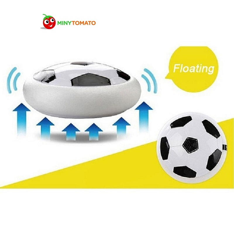 Funny Air Power Soccer Disc Multi-surface Hovering And Gliding Toy Indoor Soft Foam Floating Led Light Up Flashing Football Toy