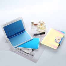 16 Slots Holographic Nail Art Stamping Plate Case Holder Laser Silver Pink Nail Art Plate Organizer  9.5*14.5cm
