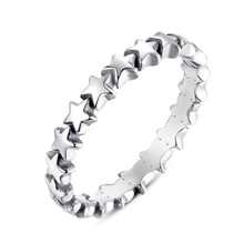 LUCKY YEAR Special Fashion Star Finger Ring For Women Wedding Silver Color Jewelry 2017 New Collection Arrival Size 6 7 8 9