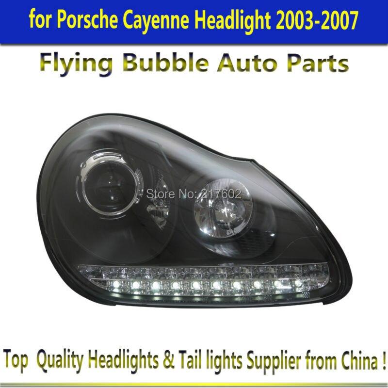 for Porsche Cayenne Headlights 2003-2007 with LED Turn light uni fortunetoys модель автомобиля porsche cayenne turbo