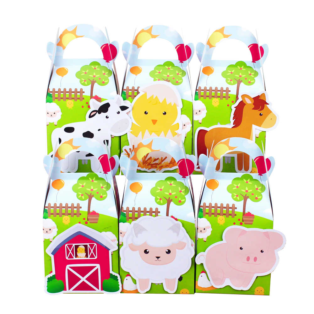 Farm Animal Favor Box Candy Box Gift Box Kids Birthday Party Supplies Decoration Farm Party Event Party Supplies