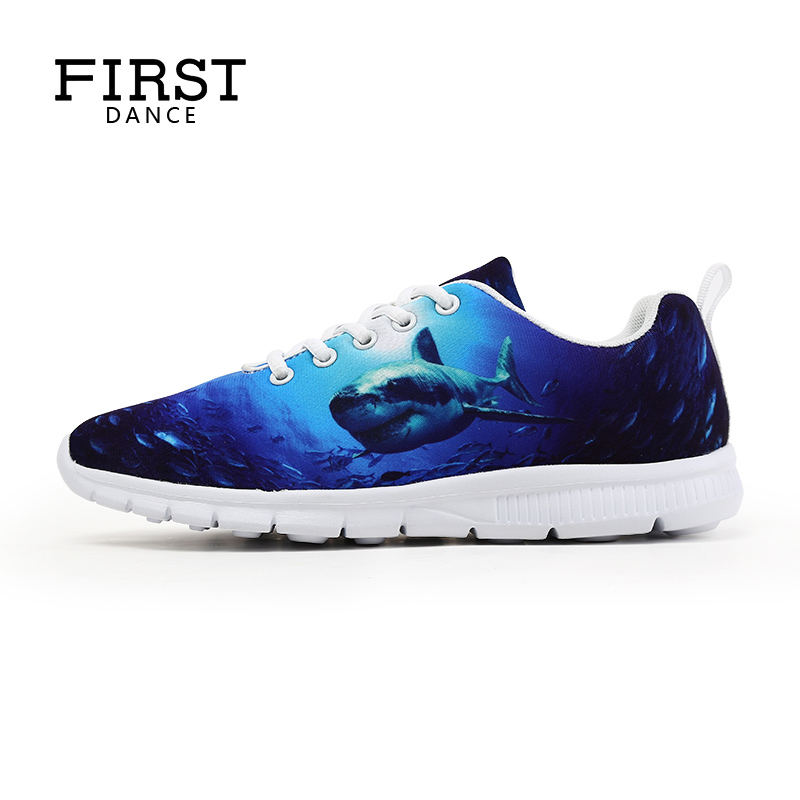 First Dance Spring Women Casual Woman Shoes Customized DIY 3D Prints Lace-up Female Shose Cheap Printed Tenis Feminino Casual