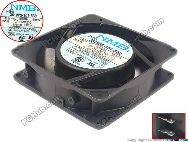 NMB-MAT 3610PS-10T-B30 B00 Server Square Fan AC 100V 13/10W 90x90x25mm free shipping for nmb 4715ms 10t b40 b00 ac 100v 14w 120x120x38mm server cooling square fan page 7