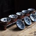 1PCS!!WIZAMONY Bue and White Chinese Porcelain Tea Bowl Teacup Tea Set Ceramic Atique Glaze Kung Fu Tea Master Cup