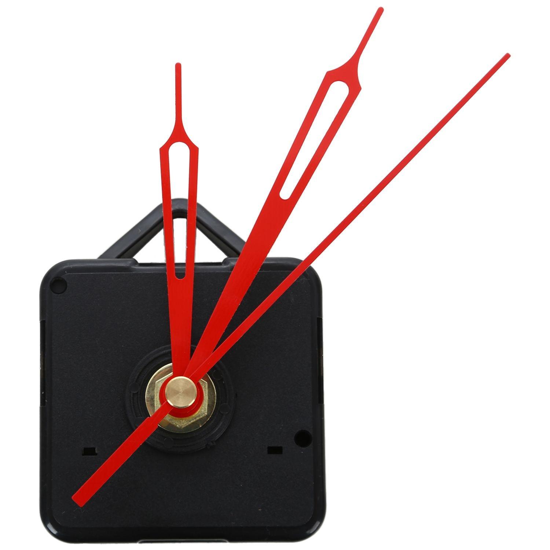 DIY Clock Mechanism Metal Texture Creative Wall Clock Retro Wall Clock Movement Accessories Black + Red Replacement Tool Parts