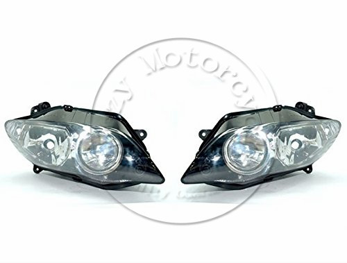 все цены на Motorcycle Front Headlight For YAMAHA YZFR1 2004 2005 2006 YZF 1000 R1 Head Light Lamp Assembly Headlamp Lighting Moto Parts онлайн