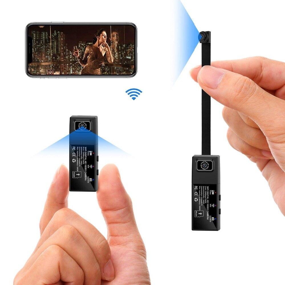 Full HD 1080 P Mini Câmera IP Wifi Dual Lens Segredo Câmera de Controle Remoto Sem Fio de Detecção de Movimento Micro Câmera Espion cam pequena