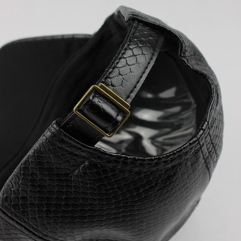 [FLB] Cool! New fashion PU black Baseball Cap kvinnor Hattar För - Kläder tillbehör - Foto 5