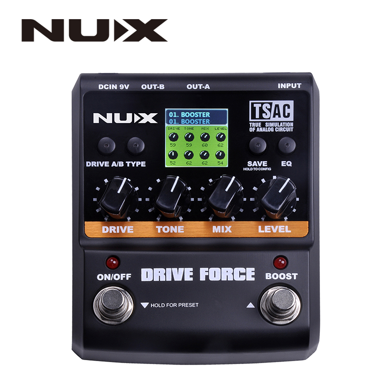 ФОТО NUX Drive Force Models Color Screen Guitar Modeling Stomp Simulator Electric Effect Effectors Pedals Musical Instrument Parts