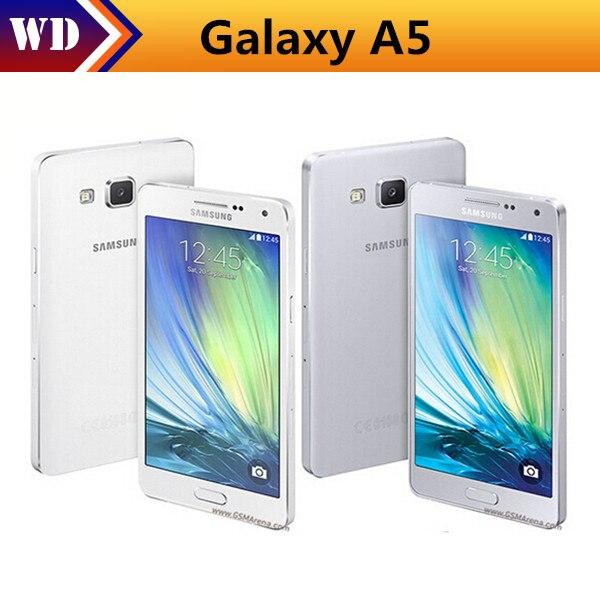 Цена за Разблокирована samsung galaxy a5 a5000 оригинальные сотовые телефоны lte 16 ГБ dual sim 5.0 дюймов quad core 13 мп камера