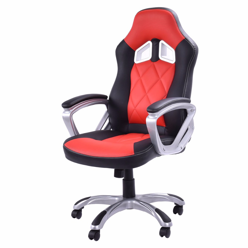 Goplus Office Chair Racing Sports Armchair High Back Lift