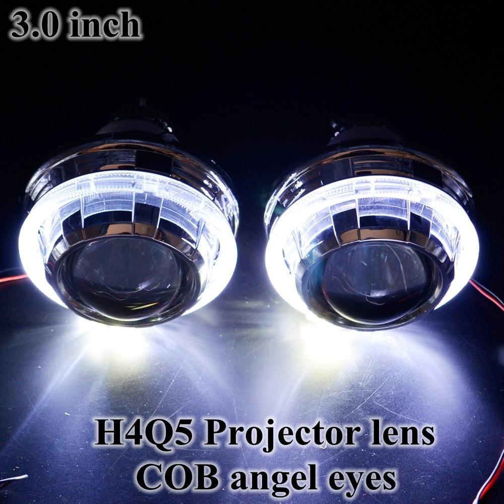 h4q5 bixenon hid projector lens led day running angel eyes. Black Bedroom Furniture Sets. Home Design Ideas