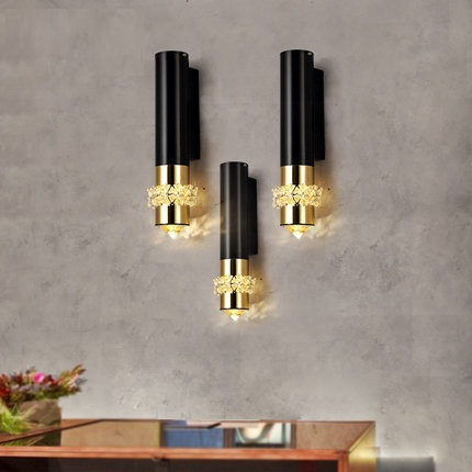 Fashion K9 Crystal Wall Sconce Modern Led Light Fixtures For Home Bedroom Bedside Lamps