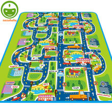 Kids Play Mats Baby Play Floor Mats Crawling Mats Children Play Carpet Kids Play Rug City Traffic Children Developing Rug PX24(China)